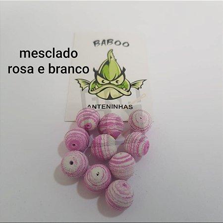 E.V.A BABOO 12MM MESCLADO ROSA E BRANCO C/10