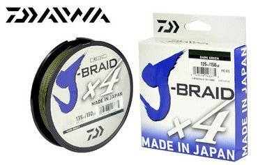 LINHA MULTIFILAMENTO DAIWA J-BRAID DARK GREEN 4X 270m