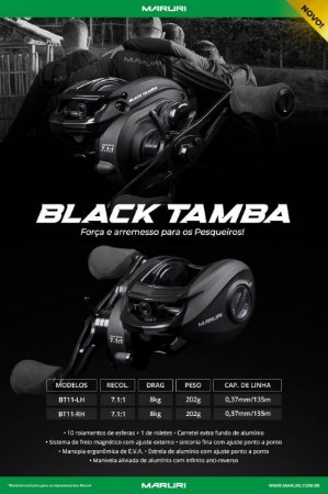 CARRETILHA MARURI BLACK TAMBA  BT11
