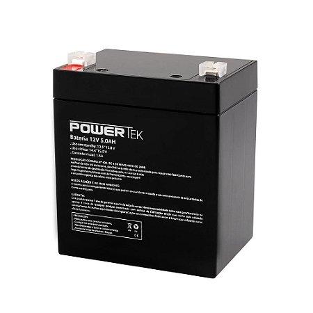 Bateria Estacionária VRLA ( AGM ) PowerTek 12V – 5Ah – EN010