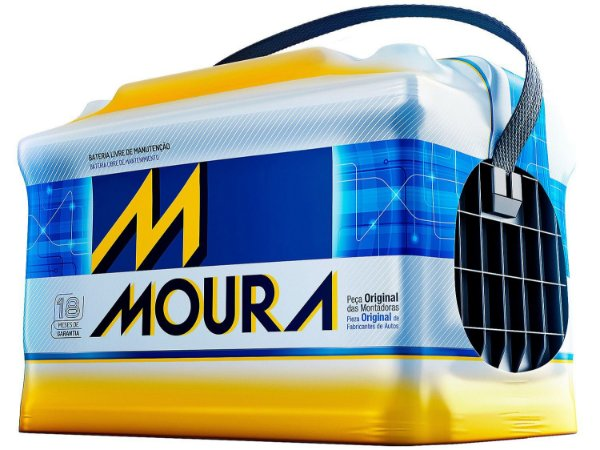 Bateria de Carro Moura 60Ah em 10X SEM JUROS | Reis Baterias ...