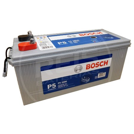 Bateria Estacionária Bosch P5 2580 - 165Ah ( Antiga P5 250 ) - 30 Meses de Garantia