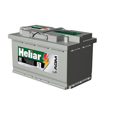 Bateria Heliar AGM 80Ah – AG 80KD – Para Carros c/ Start-Stop