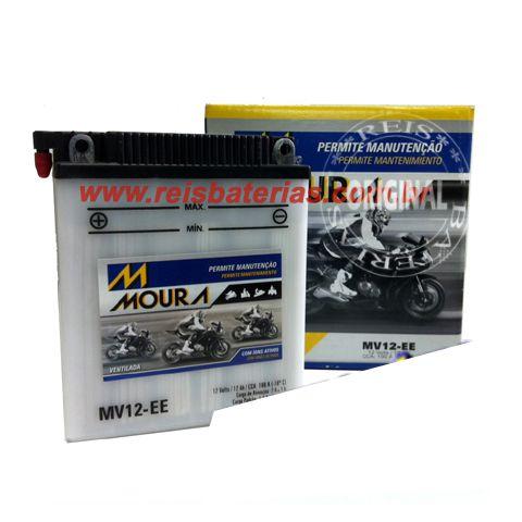 Bateria Moura Moto 12Ah - MV12-E ( Ref. Yuasa: YB12A-A )