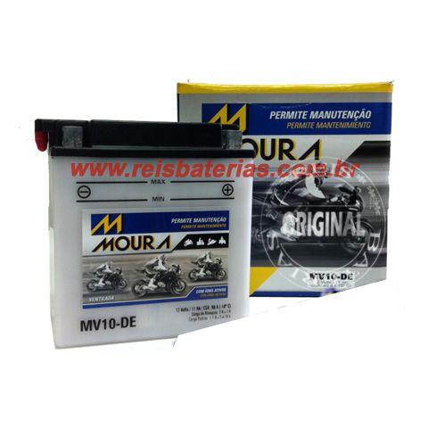 Bateria Moura Moto 11Ah - MV11-DE ( Ref. Yuasa: YB10L-A2 )