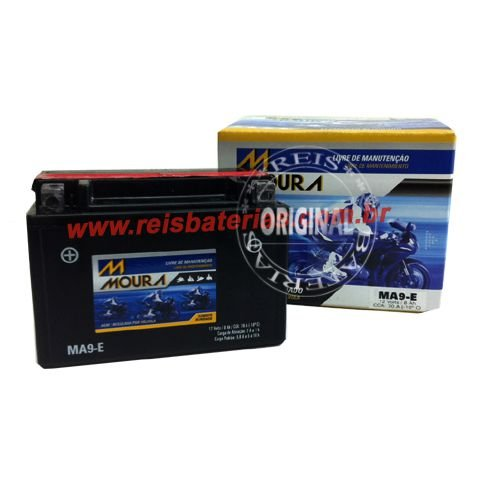 Bateria Moura Moto 8Ah - MA8-E ( Antiga MA9-E ) - Selada AGM ( Ref. Yuasa: YTX9-BS )