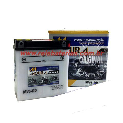 Bateria Moura Moto 5Ah - MV5-D ( Ref. Yuasa: YB5L-B )