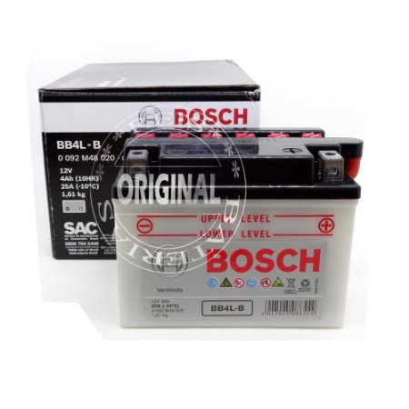 Bateria Bosch Moto 4Ah - BB4L-B - Ventilada ( Ref. Yuasa: YB4L-B )
