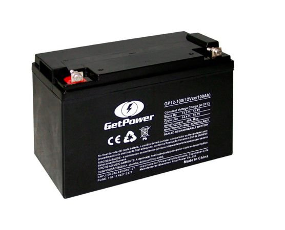 Bateria Estacionária VRLA ( AGM ) GetPower 12V – 100Ah – GP12-100