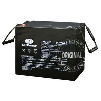 Bateria Estacionária VRLA ( AGM ) GetPower 12V – 70Ah – GP12-70L