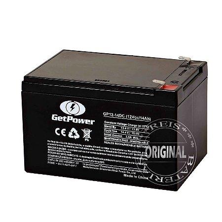 Bateria Estacionária VRLA ( AGM ) GetPower 12V – 14Ah – GP12-14DC ( Bicicleta Elétrica )