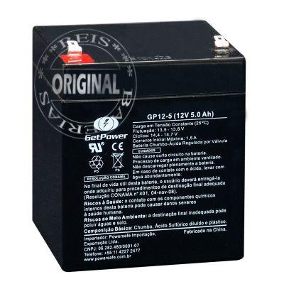 Bateria Estacionária VRLA ( AGM ) GetPower 12V – 5Ah – GP12-5
