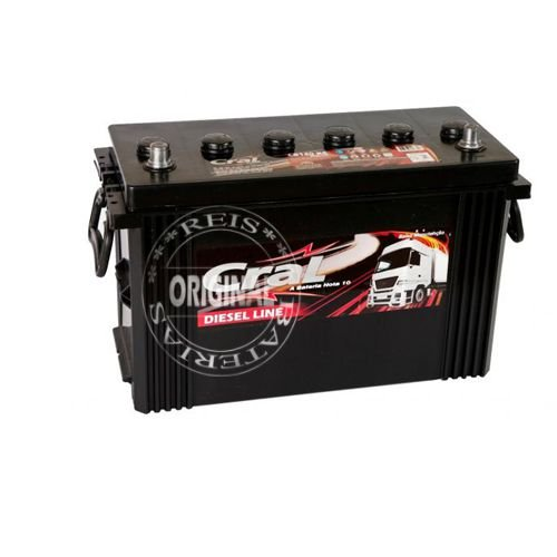 Bateria Cral Prata 140Ah – CP140RE ( Toyota Bandeirante ) – Baixa Manutenção ( Requer Água )