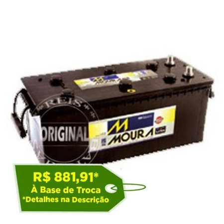Bateria Moura 180Ah LOG Diesel – M180BE ( Polo Invertido ) – Original de Montadora