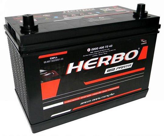 Bateria Herbo Prata 100Ah – HP100MFY – Baixa Manutenção ( Requer Água )