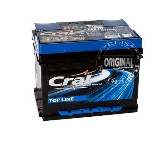 Bateria Cral Selada 60Ah – CL60VD / CL60VE – Livre de Manutenção