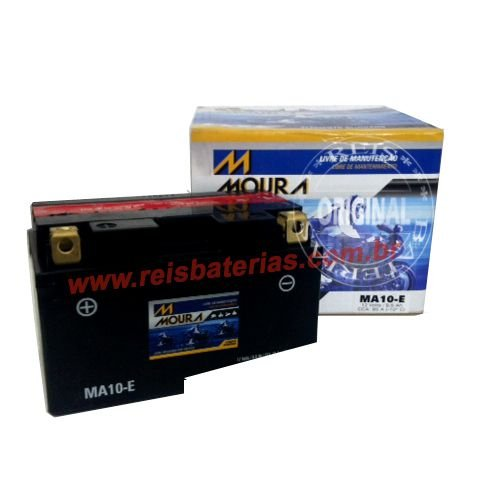 Bateria Moura Moto 8,6Ah - MA8,6-E ( Antiga MA10-E ) - Selada ( Ref. Yuasa: YTZ10S-BS )