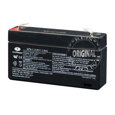 Bateria Estacionária VRLA ( AGM ) GetPower 6V – 1.3Ah – GP6-1.3