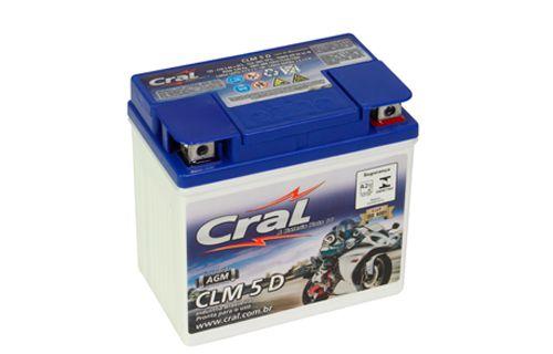 Bateria Cral Moto 5Ah – CLM5D ( Ref. Yuasa: YTX5L-BS )