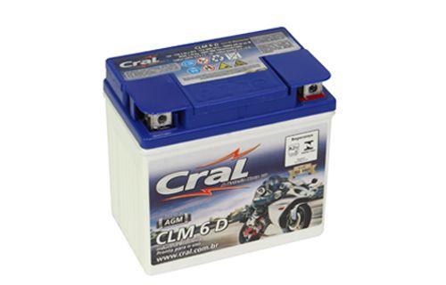 Bateria Cral Moto 6Ah – CLM6D ( Ref. Yuasa: YTZ7S )