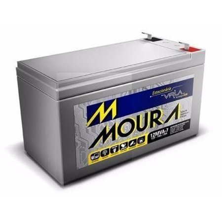 Bateria Estacionária Moura VRLA ( AGM ) 12V – 7Ah – 12MVA-7