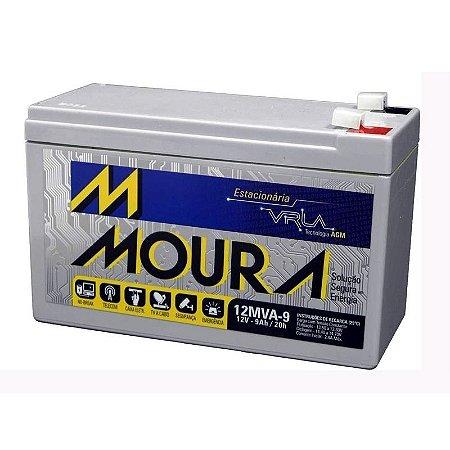 Bateria Estacionária Moura VRLA ( AGM ) 12V – 9Ah – 12MVA-9