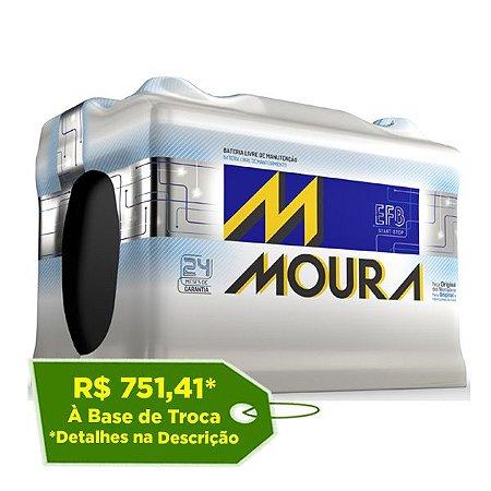 Bateria Moura EFB 72Ah - MF72LD - Para Carro C/ Start-Stop