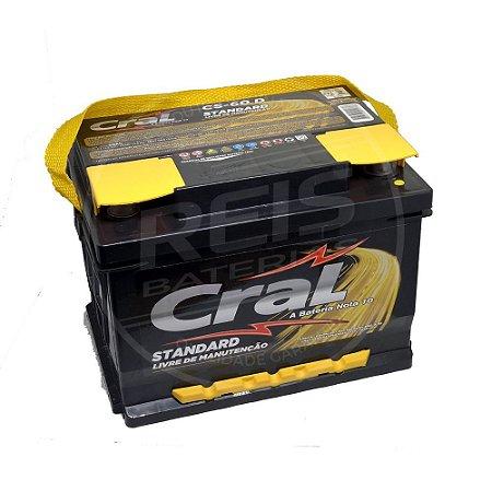 Bateria Cral Standard 60Ah – CS60D / CS60E – Selada