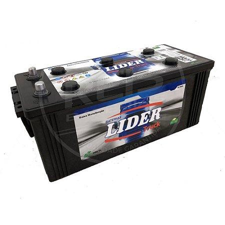 Bateria Lider Truck 150Ah - JJ150D - Baixa Manutenção ( Requer Água )