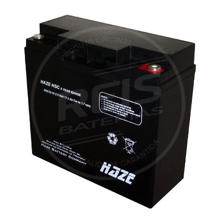 Bateria Estacionária VRLA ( AGM ) Haze Power 12V - 18Ah - HSC12-18