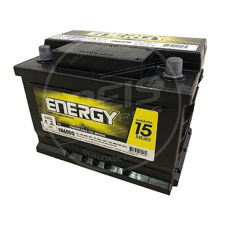 Bateria Energy 60Ah - EN60DD - Fabricação Heliar - 15 Meses de Garantia