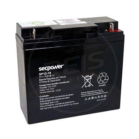 Bateria Estacionária VRLA ( AGM ) SecPower 12V - 18Ah - SP12-18