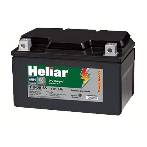 Bateria Heliar Moto 6Ah – HTX7ABS ( Ref. Yuasa: YTX7A-BS )