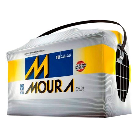 Bateria Moura 75Ah – M75LX ( Cx. Alta ) – Original de Montadora