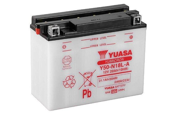 Bateria de Moto Yuasa 20Ah - Y50-N18L-A