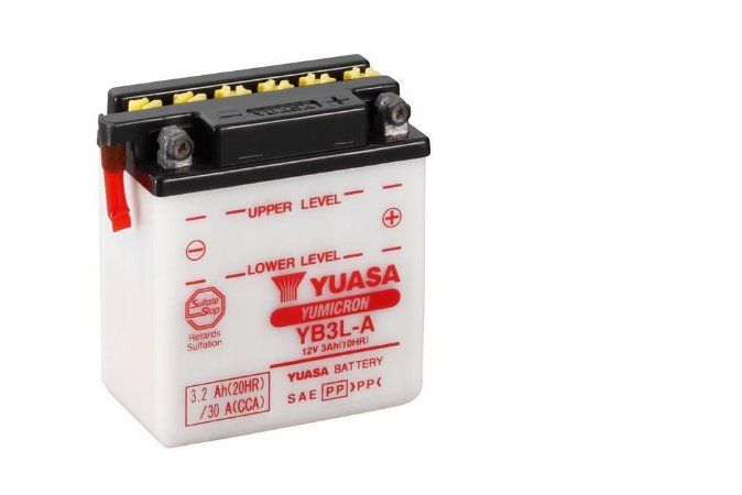Bateria de Moto Yuasa 3Ah - Yb3L-A