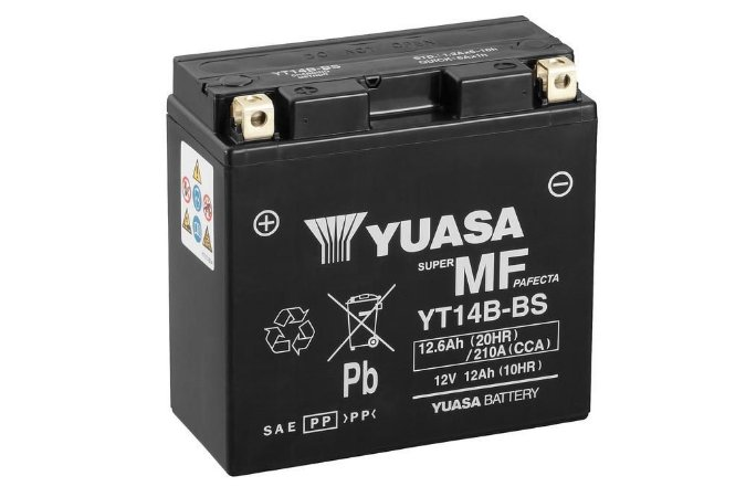 Bateria de Moto Yuasa 12Ah - Yt14B-Bs