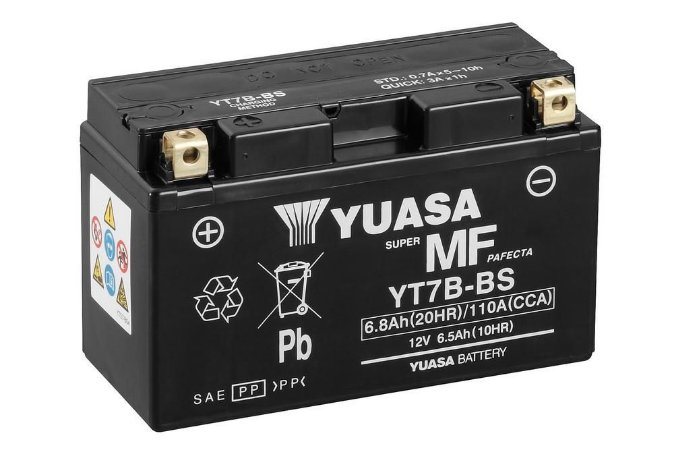 Bateria de Moto Yuasa 6,5Ah - Yt7B-Bs