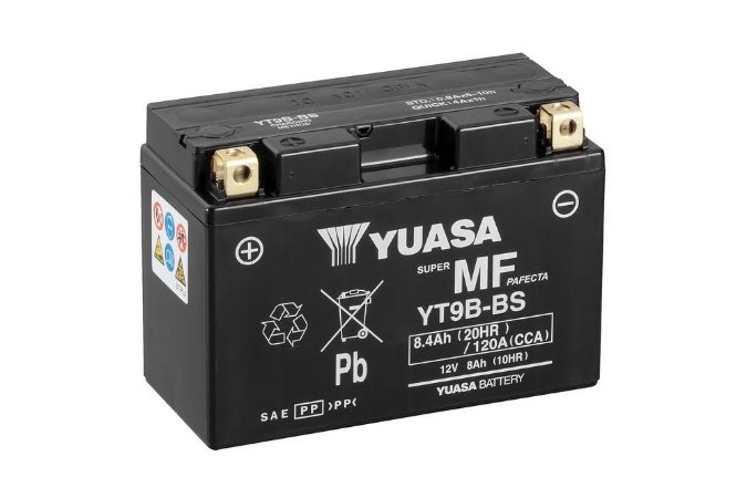 Bateria de Moto Yuasa 8Ah - Yt9B-Bs