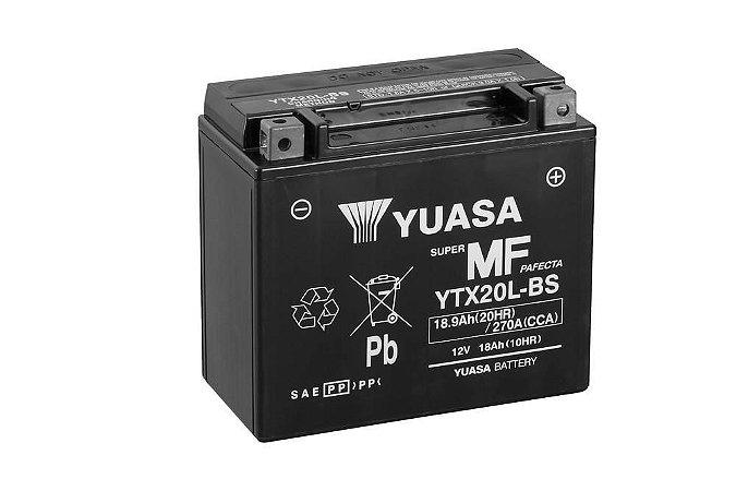 Bateria de Moto Yuasa 18Ah - Ytx20L-Bs