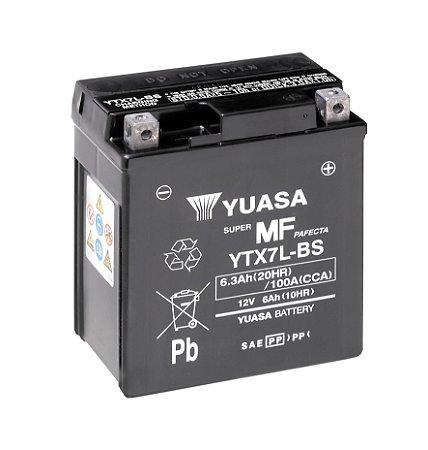 Bateria de Moto Yuasa 6,3Ah - Ytx7L-Bs