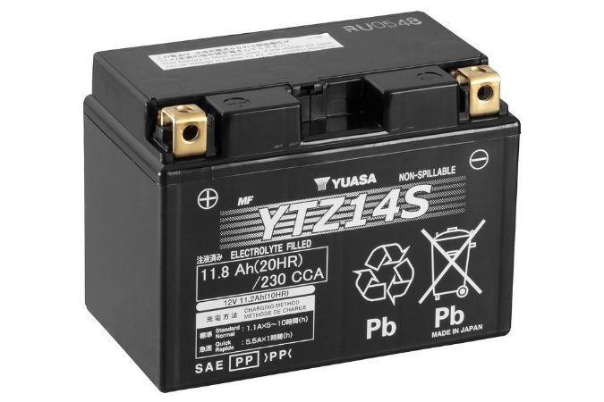Bateria de Moto Yuasa 11,2Ah - YTZ14S