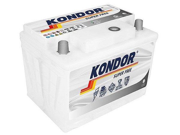 Bateria de Carro Kondor Super Free 60Ah ( Cx. Alta ) - SF22AD