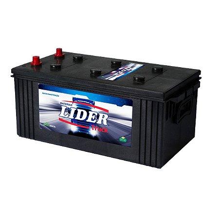 Bateria Lider Truck 200Ah - JJ200D - Baixa Manutenção ( Requer Água )