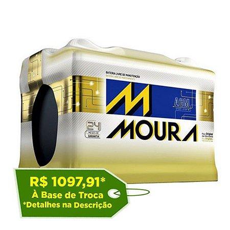 Bateria Moura AGM 60Ah – MA60AD – Para Carro c/ Start-Stop
