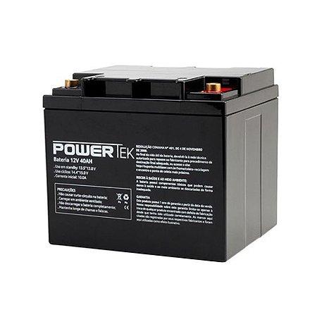 Bateria Estacionária VRLA ( AGM ) PowerTek 12V – 40Ah – EN021