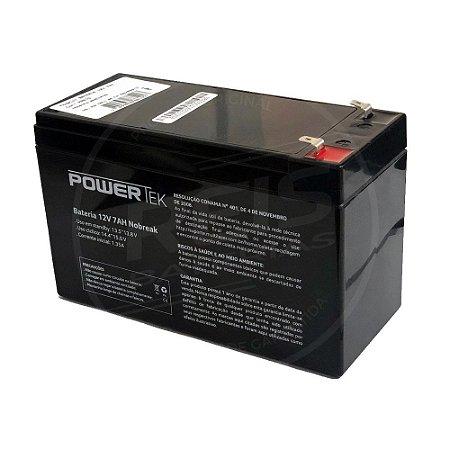 Bateria Estacionária VRLA ( AGM ) PowerTek 12V – 9Ah – EN015