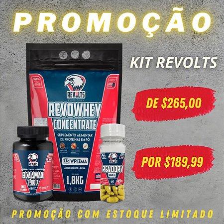 RevoWhey Concentrete 1.8kg + BccaMax 120 Tabs + Termogênico RevoDry 60 Tabs