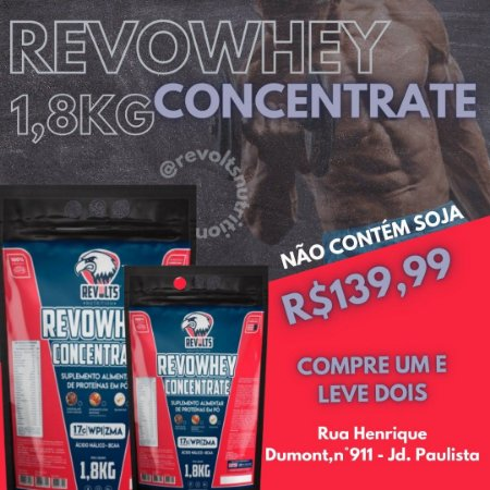 2 REVOWHEY CONCENTRATE 1.8KG ZERO SOJA - REVOLTS NUTRITION