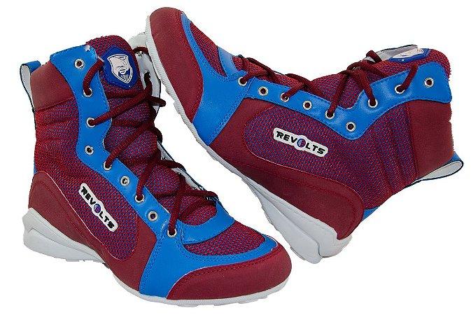 Bota Fitness Revolts - Vermelho / Azul  DT4070RE